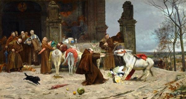 EDUARDO ZAMACOIS Y ZABALA - Regreso al Convento, 1868