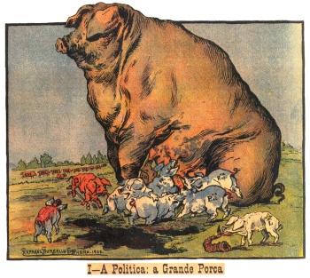 Bordalo Pinheiro, politica a porca