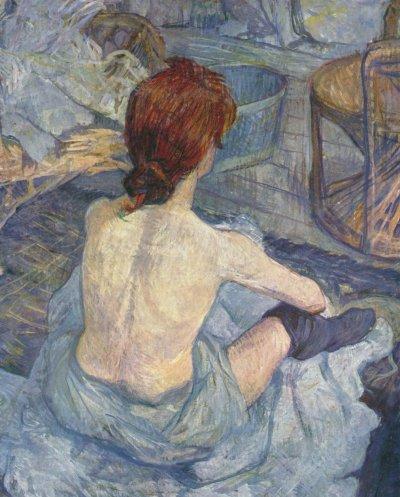 """Henri de Toulouse-Lautrec, """"Femme à sa toilette"""" (1889)"""