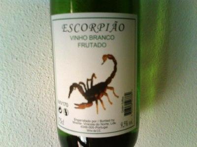 vinho escorpião