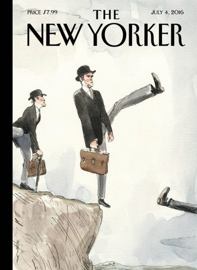"""Silly Walk Off a Cliff,"" by Barry Blitt"