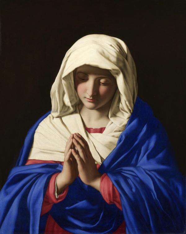 """""""Virgem Maria"""" (1640-1650), Giovanni Battista Salvi da Sassoferrato"""
