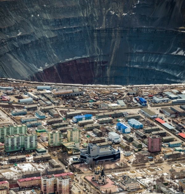 Mine diamonds. Mirny, Yakutia, Russia