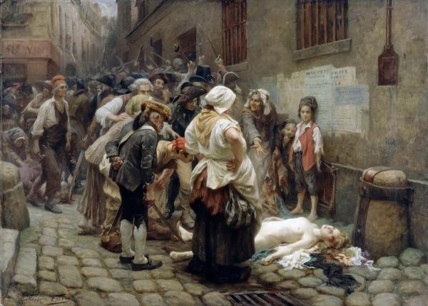 """""""Morte da princesa Lamballe"""", Léon Maxime Faivre, 1908"""