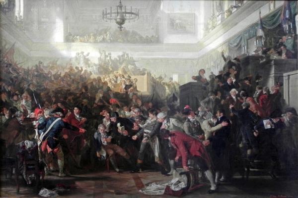 Queda de Robespierre na Convenção (Julho 1794), por Max Adamo Sturz